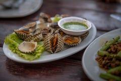 Cuando usted tiene hambre La concha de peregrino es una comida deliciosa imagenes de archivo