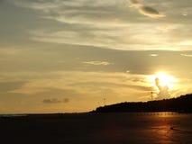 Cuando va el sol abajo Fotografía de archivo libre de regalías