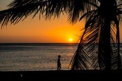 Cuando va el sol abajo Fotografía de archivo