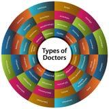 Cuarenta y ocho tipos de los doctores Chart Fotos de archivo libres de regalías