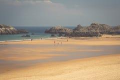 Cuarezo beach in Noja. Santander. Cantabria. Spain. Europe. Royalty Free Stock Photography