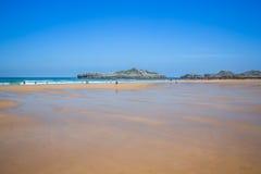 Cuarezo beach in Noja. Santander. Cantabria. Spain. Europe. Stock Photography