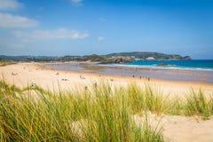 Cuarezo beach in Noja. Santander. Cantabria. Spain. Europe. Royalty Free Stock Image