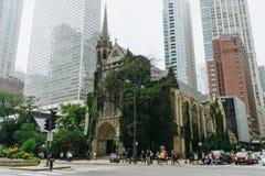 Cuarta iglesia presbiteriana en Chicago foto de archivo libre de regalías