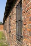 Cuartel en Auschwitz Foto de archivo libre de regalías