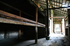 Cuarteles de la prisión de Auschwitz Imagenes de archivo