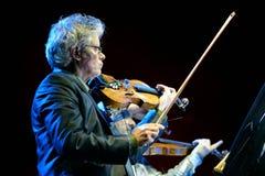 Cuarteto de Kronos (cuarteto de cuerda americano), concierto en el sonido de Heineken Primavera Foto de archivo
