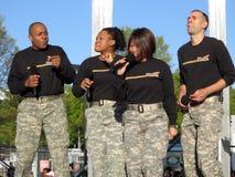 Cuarteto de la venda del Ejército del EE. UU. Imagen de archivo libre de regalías