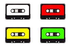 Cuarteto de las cintas de cassette Foto de archivo