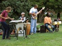 Cuarteto del jazz Foto de archivo
