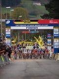 Cuarto alrededor del Cyclocross 2011-2012 WorldCup Foto de archivo