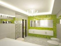 cuarto de baño 3d Imagen de archivo libre de regalías