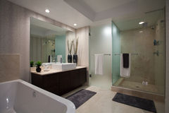 Cuarto de baño abierto grande Imagen de archivo libre de regalías
