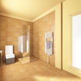 Cuarto de baño amarillo Imagen de archivo