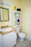 Cuarto de baño amarillo Fotografía de archivo libre de regalías