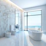Cuarto de baño blanco Foto de archivo libre de regalías
