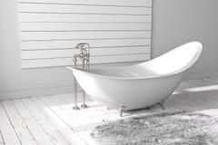 Cuarto de baño brillante en blanco Fotografía de archivo