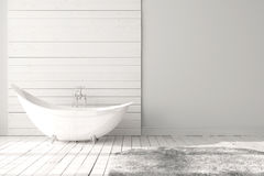 Cuarto de baño brillante en blanco Fotos de archivo