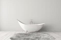 Cuarto de baño brillante en blanco Imagenes de archivo