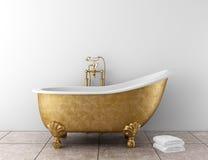 Cuarto de baño clásico con la bañera vieja Fotografía de archivo