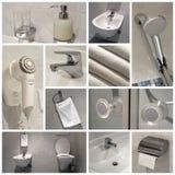 Cuarto de baño - collage Imágenes de archivo libres de regalías