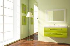 Cuarto de baño coloreado Fotografía de archivo