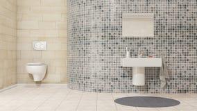Cuarto de baño con el lavabo de mano Imagenes de archivo