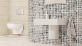 Cuarto de baño con el lavabo de mano Fotografía de archivo