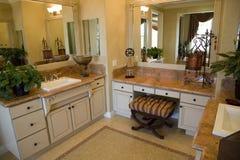 Cuarto de baño con el mosaico Foto de archivo libre de regalías