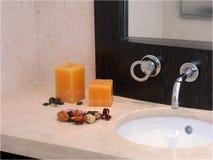 Cuarto de baño con estilo Imágenes de archivo libres de regalías