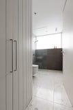 Cuarto de baño contemporáneo de las tejas y del paseo de mosaico en ducha fotos de archivo