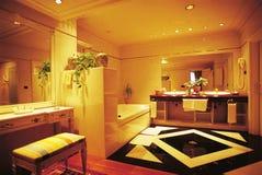 Cuarto de baño de la habitación Foto de archivo libre de regalías