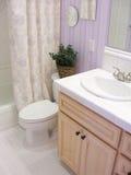 Cuarto de baño de la lavanda Imagen de archivo libre de regalías