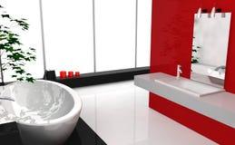 Cuarto de baño de lujo moderno stock de ilustración