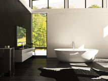 Cuarto de baño del diseño moderno   Arquitectura interior Imágenes de archivo libres de regalías