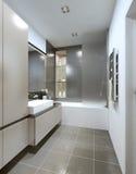 Cuarto de baño del estilo contemporáneo Fotografía de archivo