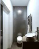 Cuarto de baño del estilo contemporáneo Foto de archivo