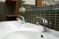 Cuarto de baño del hotel Fotografía de archivo