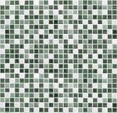 Cuarto de baño del mosaico, cocina o fondo verde de la pared de la teja del retrete Imágenes de archivo libres de regalías