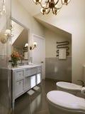 Cuarto de baño en cuarto de baño clásico de style Foto de archivo