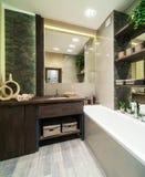 Cuarto de baño en estilo del eco Imagen de archivo libre de regalías