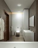 Cuarto de baño en estilo moderno fotografía de archivo libre de regalías