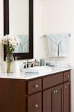 Cuarto de baño en un nuevo hogar Imagen de archivo