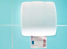 Cuarto de baño euro Imágenes de archivo libres de regalías