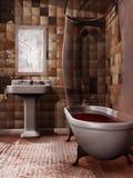 Cuarto de baño fantasmagórico ilustración del vector