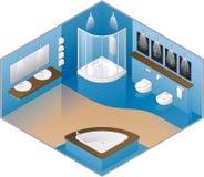 Cuarto de baño grande del estilo moderno Imagenes de archivo