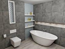 Cuarto de baño gris moderno Imágenes de archivo libres de regalías
