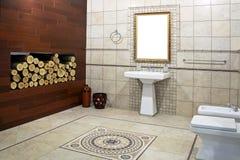 Cuarto de baño italiano Imagen de archivo libre de regalías