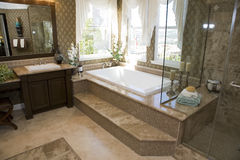 Cuarto de baño lujoso fotografía de archivo