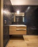 Cuarto de baño lujoso en el apartamento moderno Fotografía de archivo libre de regalías